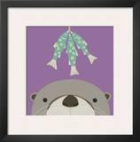 Peek-a-Boo Otter Posters by Yuko Lau