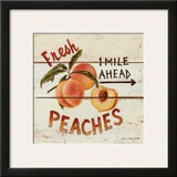Fresh Peaches Prints by David Carter Brown