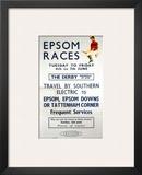Epsom Races, BR, c.1957 Prints