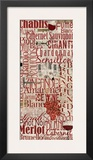 Red Wine Red And White Print by Lisa Wolk
