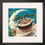 Blue Moon Coffee Prints by Maria Donovan