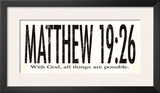 Matthew 19:26 Poster by Stephanie Marrott
