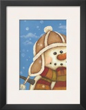 Snowman I Posters by Kim Lewis