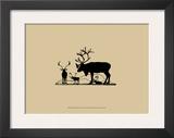 Elk Silhouette II Art