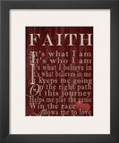 Faith Sentiments Prints by Lisa Wolk