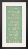 Love, Dream, Smile Prints