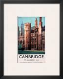 Cambridge It's Quicker by Rail, Peterhouse Prints