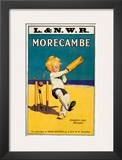 Morecambe, Loosens Your Stumps, Cricket on the Beach Prints