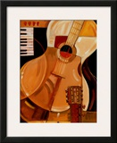 Abstract Guitar Posters by Paul Brent