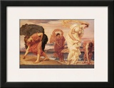 Greek Girls Picking up Pebbles Framed Giclee Print by Frederick Leighton
