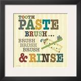 Tooth Paste Prints by Jo Moulton