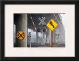 Railroad Crossing Framed Giclee Print by David Winston
