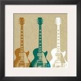 Guitars Print by Stella Bradley