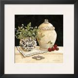 Cherry Still Life Print by Charlene Winter Olson