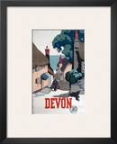 Devon GWR Old Man Walking Up Street Prints