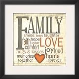 Family Typography Print by Jo Moulton