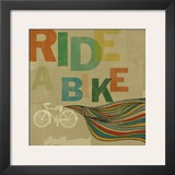 Ride A Bike Prints by Stella Bradley