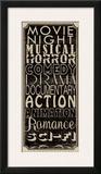 Movie Night II Art by Lisa Wolk