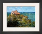 Fisherman's Cottage on the Cliffs at Var Print by Claude Monet
