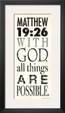 Matthew 19:26 Prints by Stephanie Marrott