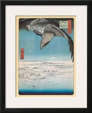 Eagle Flying over the Fukagama District Prints by Ando Hiroshige