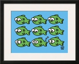 Fish Fart Prints by Todd Goldman