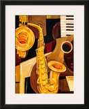Abstract Sax Art by Paul Brent