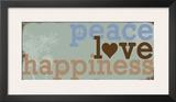 Peace Love Happiness Posters by Anna Quach