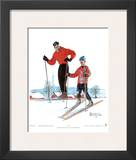 Ski Skills Prints by Norman Rockwell