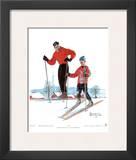 Ski Skills Prints by Norman Rockwell