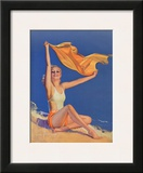 Sunshine Pin Up Girl c.1940s Prints by Rolf Armstrong