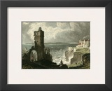 Caldy Island, from Tenby Castle Posters by T. Allom