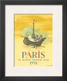 Paris is 2000 Years Old, c.1951 Art by Roger Chapelain Midy