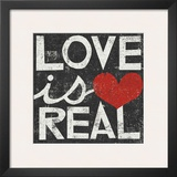 Love Is Real Grunge Square Print by Michael Mullan