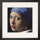 Girl with a Pearl Earring (detail) Prints by Jan Vermeer