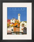 Ticino, Southern Switzerland, c.1943 Posters by Daniele Buzzi