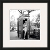 Lucinda in a Telephone Box, London, 1959 Art by Georges Dambier