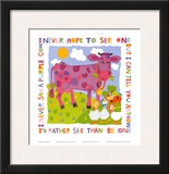 Purple Cow Print by Cheryl Piperberg