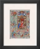 Birth of Christ - Prayer Book about 1450 Print