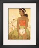 Hula Dancer, Royal Hawaiian Hotel Menu Cover c.1950s Prints by John Kelly