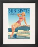 Santa Fe Railroad: Sun Spots in the Southwest, c.1950s Posters