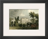 Hewick Hall Print by T. Allom