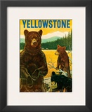 Yellowstone Go Greyhound c.1960s Art