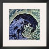 Feminine Wave (detail) Poster by Katsushika Hokusai