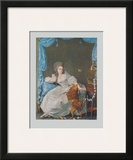 Lady with Dog and Birdcage Print by Thomas Gainsborough