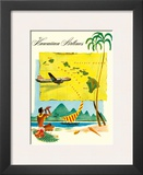 Hawaiian Airlines, Travel Brochure, c.1950s Poster