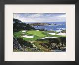 The 15th At Cypress Point Art by Larry Dyke