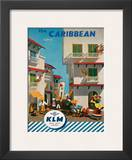 KLM Royal Dutch Airlines: The Caribbean, c.1960s Print by J.F. Van Der Leeuw