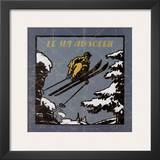 Le Ski au Soleil I Prints by Philippe David