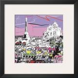 Tour Eiffel, Sacré Coeur Prints by  Tandem